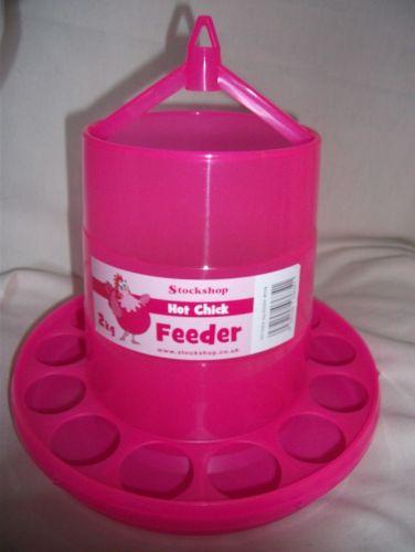 Pink 3 Litre chicken Feeder
